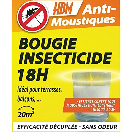 HBM Anti-Moustiques 10818 Bougie Insecticide 18h Anti moustiques, Blanc, 85x60x75 cm