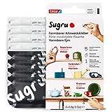 Sugru Mouldable Glue de tesa, adhesivo fuerte multiusos, envase de 8 (8 x 3,5 g) en Negro y Blanco