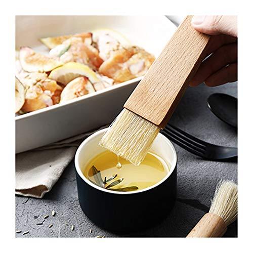 XINSHENG store 2pcs aceite de cocina Cepillos de hilvanado de madera del cepillo de la manija Parrilla cepillo de pasteles Hornear Herramientas de mantequilla for cocinar salsa de miel cepillo for hor