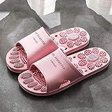 Sandalia Tipo Chancla Masaje,Zapatillas de Piso de Masaje para el hogar, Sandalias de baño Inferiores Suaves para Interiores-Rosa_44-45,Sandalia Tipo Chancla Masaje de Hombre