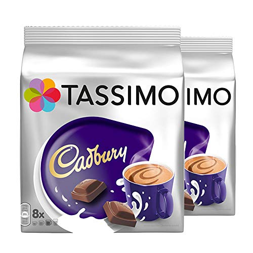 Tassimo Cadbury Fairtrade Hot Chocolate (8x51g) - Packung mit 2