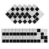 Elinala Azulejos Adhesives, Cenefas Adhesivas, 30 Piezas (10 x 10CM) Duraderas Impermeables Mate...