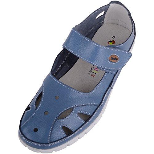 Sandales décontractées en cuir pour femme, blueberry, 41 EU