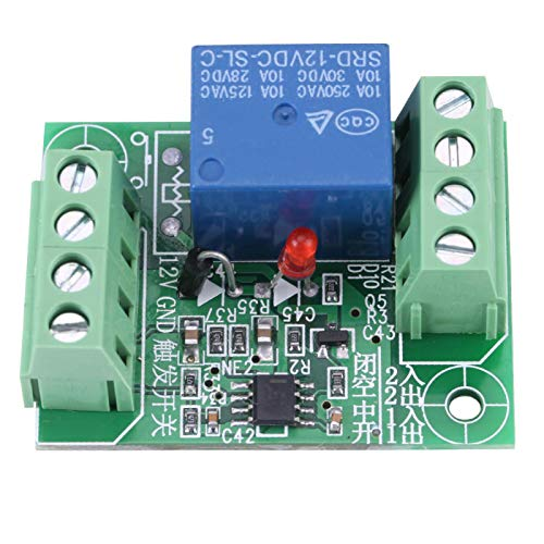 Caiqinlen Relé DC12V, módulo de relé de un Solo Canal práctico y Duradero, Paralelo para Condensador de 470Uf 1,5 * 3,5 * 4,5Cm 10A, 250Vac