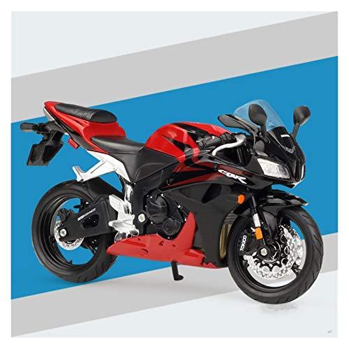 DSWS Kit de modelo de motocicleta 1:12 para modelos de motocicleta CBR600RR de aleación fundida a presión modelo de motocicleta para adultos y niños (color: 1)