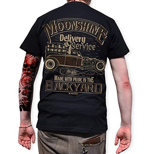 T-Shirt Back Print, Rock'n'Roll, Pick Up, Schnaps, Moonshine