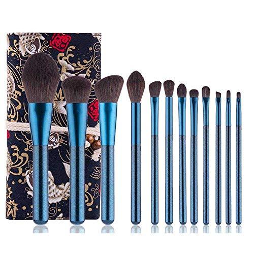 MEISINI Makeup Brushes Powder Foundation Eyeshadow Make Up Brush Set Cosmetic Brushes Blush Stippling Brush Makeup Tool Set, Brushes With Bag