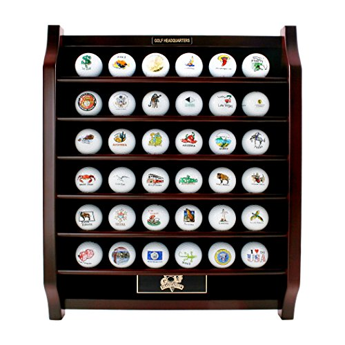 36 Golf Ball Rosewood Display Shelf by ProActive Sports