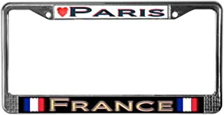 CafePress Paris, France - License Plate Frame Chrome License Plate Frame, License Tag Holder