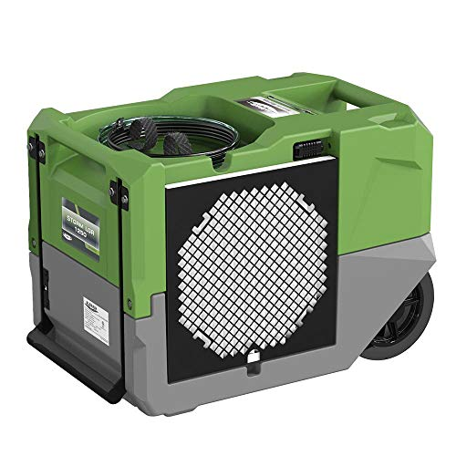 ALORAIR LGR 1250 Industrial Commercial Dehumidifier, 125 Pint Dehumidifier with Pump, Compact, Portable, for Water Damage Restoration, Green