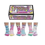 Lot de 6 chaussettes des filles avec licorne Oddsocks - Fairytale Friends EUR 27-30.5 UK 9-12 US 9.5-13