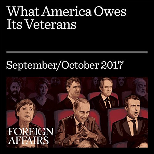 What America Owes Its Veterans audiobook cover art