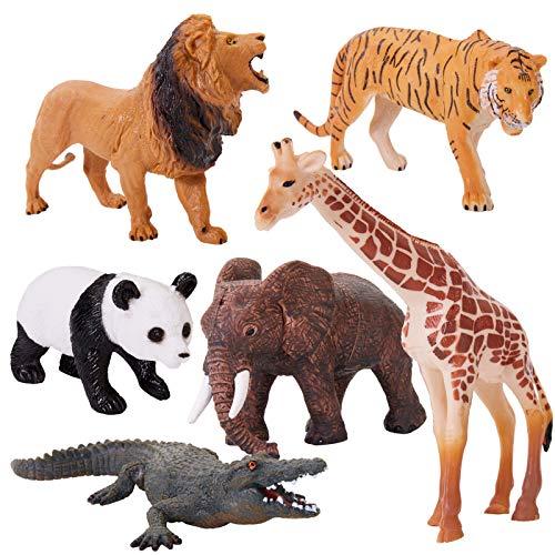 HERSITY Figure Animali della Giungla Realistico Animali Foresta Giocattoli Gioco Regalo per Feste Bambini