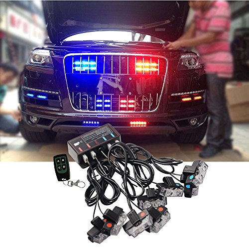 ATMOMO Blue and Red LED Flashing Modes Car Truck