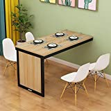 TELLMNZ Folding Table, Wood Wall Mounted Table, Stable Sturdy Construction, Wall Desks for Small Spaces, Folding Wall Table, Easy to Install (Four Colors Optional, Size : 120c;Times;60cm)