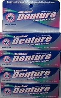 Staydent Denture Adhesive Cream, Dr. Sheffield's, 0.85 Oz. by Sheffield Pharmaceuticals by Sheffield Pharmaceuticals