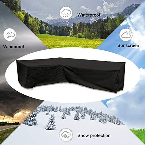 ESSORT L-Form Abdeckung für Gartenmöbel , L Form Schutzhülle Wasserdicht Sofa Abdeckung Schutz vor Staub und verlängert die Lebensdauer von Möbeln - 2