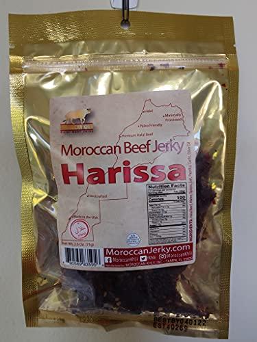 Moroccan Khlii Halal Beef Jerky 2.5 oz/ Harrissa Flavor (1 pack)