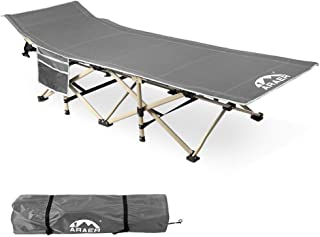 Camping Cot, 450LBS(Max Load), Portable Foldable Outdoor Bed with Carry Bag for Adults Kids, Heavy Duty Cot for Traveling ...