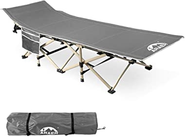 Camping Cot, 450LBS(Max Load), Portable Foldable Outdoor Bed with Carry Bag for Adults Kids, Heavy Duty Cot for Traveling Gea