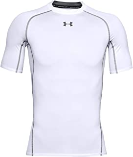 Under Armour UA HeatGear Short Sleeve, Compression Undershirt for Exercise, Men's Gym Top with HeatGear Fabric Men
