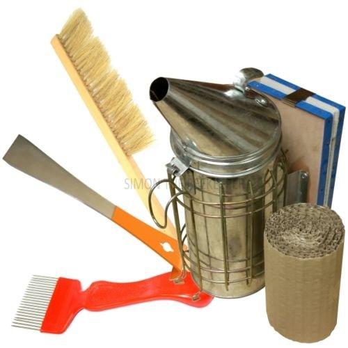 Großer Stahl Raucher, Hive Werkzeug, uncapping Gabel und Bürste