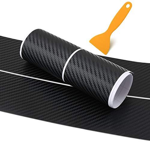Nihlsen Coche Universal Umbral de Fibra de Carbono Pegatinas Placa de Guardia Anti-Jugar Película Protectora Pad Tronco Pedal Pegatinas