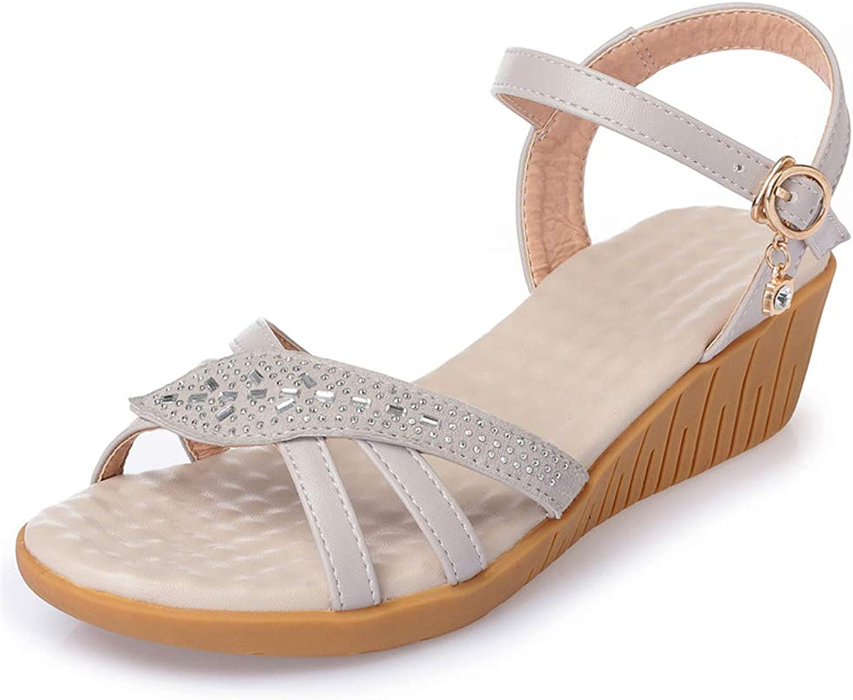 F1rst Rate Women's Retro 70s Crisscross Strappy Platform Wedge Sandal