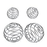 Shaker Balls, 4 Pcs Protein Shaker Ball 2 Size Stainless Steel Blender Ball Replacement for Shaker,Drinking Bottle Cup