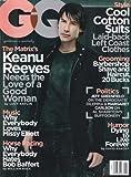 GQ Magazine KEANU REEVES Ashton Kutcher RYAN REYNOLDS Adriana Lima MAY 2003
