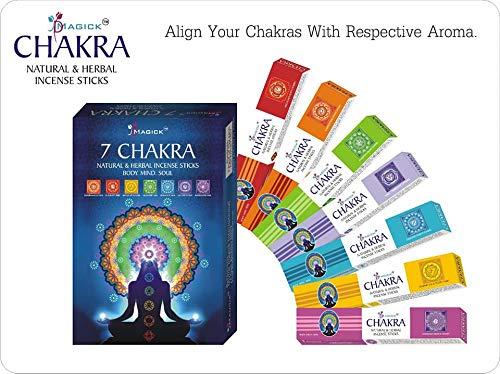 Divine Magick Chakra-Räucherstäbchen, 15 g, 7 Packungen