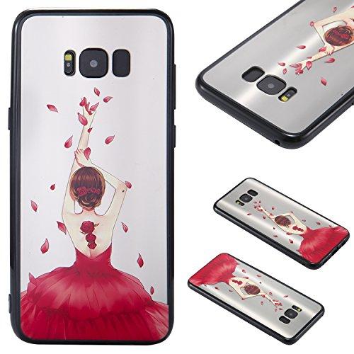Qiaogle Teléfono Caso - Funda de TPU Silicona Carcasa Case Cover para Samsung Galaxy S8 Plus (6.2 Pulgadas) - KT31 / Espalda Chica (1)