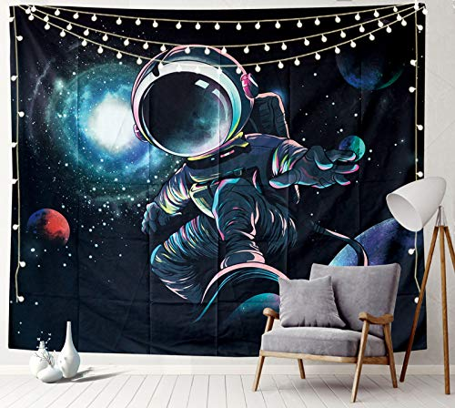 Sosolong Surfing Man Room Decor for Boys Astronaut Tapestry Space Man Tapestry for Bedroom (SURFING, 93in*71in)