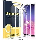 UniqueMe [3 Pezzi Pellicola Protettiva per Sumsung Galaxy S10 Plus / S10+, [Easy to Install] Soft HD Clear TPU Film con Un Perfetto Servizio Post-Vendita.