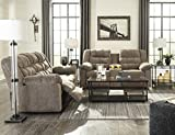 Workhorse Contemporary Cocoa Color Fabric Reclining Sofa and Loveseat With Console