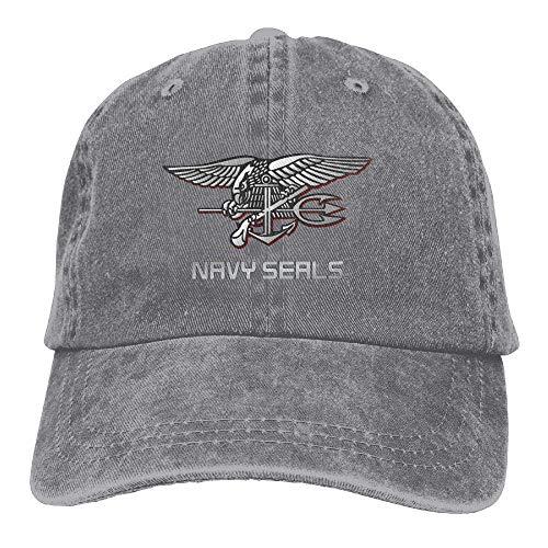 Hoswee Baseballmütze Hüte Kappe Navy Seal Logo Unisex Truck Baseball Cap Adjustable Hat Sandwich Peaked Caps Sun Hat