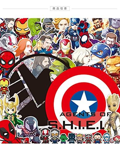 LVLUO Avengers Alliance Marvel Pegatina para Equipaje Pegatina para portátil Guitarra monopatín...