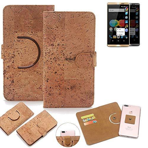 K-S-Trade® Schutz Hülle Für Allview P8 EMagic Handyhülle Kork Handy Tasche Korkhülle Handytasche Wallet Case Walletcase Schutzhülle Flip Cover Smartphone