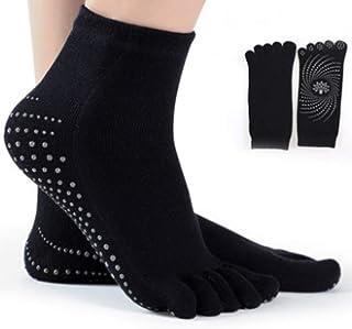 Sunnykgm, Calcetines De Yoga Calcetines De Cinco Dedos Trampoline Calcetines Deportes Calcetines De Fitness Antideslizante Invierno