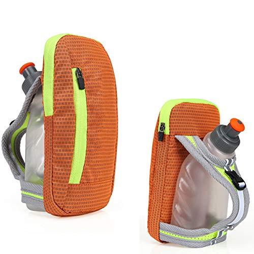 DEDC - Botella de agua para correr, ciclismo, senderismo, camping, viajes, sistema de hidratación para corredores y atletas, naranja