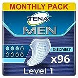 TENA Men Protector Nivel 1, Compresas Incontinencia Hombre - 96 Unidades (8x12)