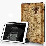 She Charm Funda para iPad 9.7 para iPad Pro 9.7 Pulgadas 2016,Mapa detallado del Tesoro Pirata en un Viejo Arruinado,Incluye Soporte magnético y Funda para Dormir/Despertar