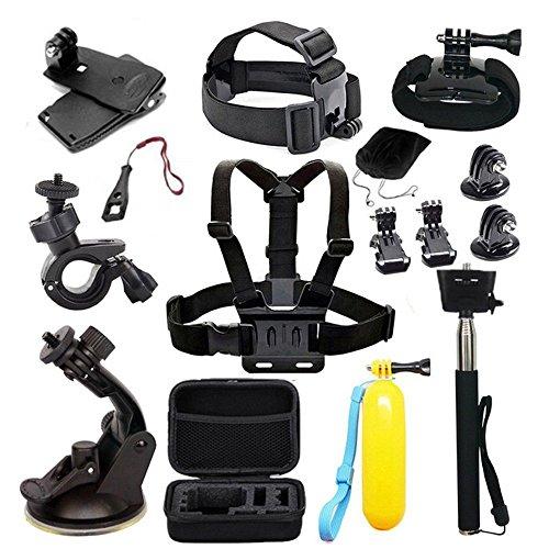 Preisvergleich Produktbild Navitech 18 in 1 Action Kamera Zubehör Combo Kit mit EVA Case kompatibel mit dem AEE LYFE Silver Action Camera