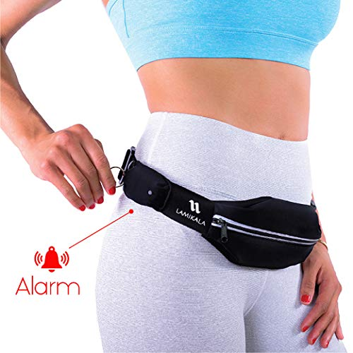 Running Belt (Standard Size) with Personal Alarm for Runners Safety Including Flexible and Stretchy...
