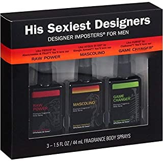 His Sexiest Designer Body Spray 3-pk for Him by His Sexiest Designesr