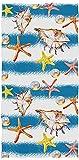 Realista del Caribe Estrellas de mar de la Perla Impreso Suave de Lujo Altamente Absorbente Grande Decorativa Toallas de Mano Multipropósito para un Cuarto de Baño, Hotel, Gimnasio y SPA (13.8×28.