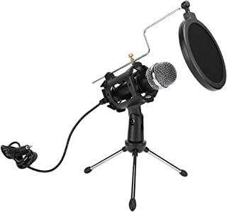 Mini Design Avoid Bursts Ultra‑Compact Recording Microphone, Microphone Set, ABS + Metal Online Chats for Radio