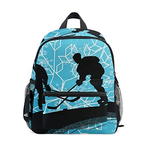 Kinderrucksack Eishockey Spieler Sport Kindergarten Vorschule Tasche für Kleinkinder Mädchen Jungen