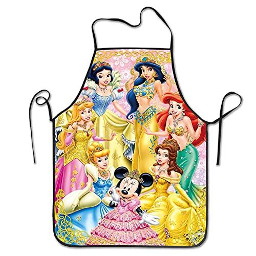 Delantal de chef de princesa Disney para adultos de poliéster duradero, delantales para cocinar, hornear y pintar