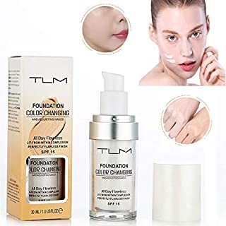 TLM Concealer Cover Cream, Flawless Colour Changing Foundation Makeup, Warm Skin Tone Foundation liquid Base Nude Face Moisturizing Liquid Cover Concealer for Women and Girls (1pcs)